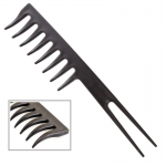 PROFESSIONAL TAIL COMB WITH CURVED TEETH